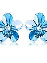 Серьги-гвоздики Бижутерия Женский Для вечеринок Стерлинговое серебро 1 пара Синий