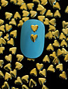 100PCS 4MM*4MM Golden Heart Metal Rivet Nail Art Decoration