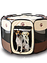 Cat Dog Tent Pet Carrier Foldable Cartoon Yellow Rose Brown Ruby