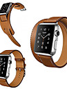 Watch Band for Apple Watch 38mm 42mm Leather Replacement Stap Wristband Double Tour
