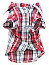 Hund T-shirt Hundekleidung Laessig/Alltaeglich Plaid/Karomuster Rot
