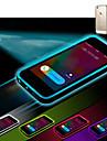 appel entrant conduit clignoter retour TPU etui transparent pour iPhone 6 plus (couleurs assorties)