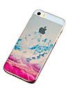 Pour Coque iPhone 5 Ultrafine Translucide Motif Coque Coque Arriere Coque Paysage Flexible PUT pour iPhone SE/5s/5
