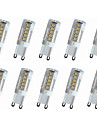4W E14 / G9 / G4 LED Doppel-Pin Leuchten T 33LED SMD 2835 300-350LM lm Warmes Weiss / Kuehles Weiss Dekorativ AC110 / AC220 V 10 Stueck