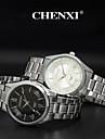 CHENXI® 남성 손목 시계 캐쥬얼 시계 석영 일본 쿼츠 스테인레스 스틸 밴드 실버