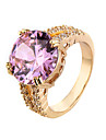Ring AAA Cubic Zirconia Zircon Cubic Zirconia Alloy Simple Style Fashion Pink Jewelry Casual 1pc