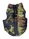 Caes Colete Cor Camuflagem Roupas para Caes Inverno Primavera/Outono camuflagem Casual