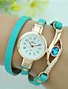 Women\'s Bracelet Watch Imitation Diamond Quartz Leather Band Black White Blue Red Navy Rose Strap Watch
