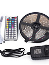 5m 150 leds rgb 44keys ir controlador 12v 3a fonte de alimentacao ac 100-240v led strip light set