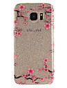 For Samsung Galaxy S7 S7edge S3 Case Cover Plum Pattern IMD Process Painted TPU Material Phone Case