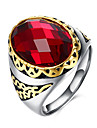 Ring Gemstone Stainless Steel Titanium Steel Glass Fashion Red Jewelry Daily Casual 1pc