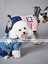 Cat Dog Clothes/Jumpsuit Blue Pink Dog Clothes Winter Spring/Fall Plaid/Check Casual/Daily