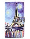 Для Кошелек Бумажник для карт со стендом Флип С узором Магнитный Кейс для Чехол Кейс для Эйфелева башня Твердый Искусственная кожа для