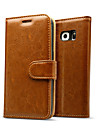 Luxury Genuine leather Flip Card Wallet case cover for Samsung Galaxy S7/S7 edge