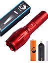Lampes Torches LED Kits de Lampe de Poche LED 2000 Lumens 5 Mode Cree XM-L T6 18650 AAAIntensite Reglable Faisceau Ajustable Taille