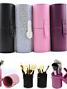 Bolsa de Cosmetico Caixa de Cosmeticos Preta Roxa Rosa Multi Cores Normal 17.5*6.5 Feminino