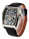 גברים לנשים יוניסקס שעוני ספורט שעונים צבאיים שעוני אופנה שעון יד שעון מכני אוטומטי נמתח לבד לוח שנה אזור זמן כפול עור אמיתי להקהוינטאג\'