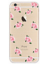 Pour Ultrafine Motif Coque Coque Arriere Coque Fleur Flexible PUT pour Apple iPhone 7 Plus iPhone 7 iPhone 6s Plus/6 Plus iPhone 6s/6