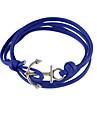 Bracelet Bracelets Cuir Autres Amitie Bijoux Cadeau Noir Bleu,1pc