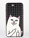 Para iPhone 8 iPhone 8 Plus Case Tampa Estampada Capa Traseira Capinha Gato Macia Silicone para Apple iPhone 8 Plus iPhone 8 iPhone 7
