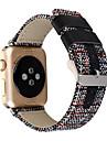 Bague de montre pour Apple Watch 38mm sangle de remplacement classique en cuir boucle de 42mm