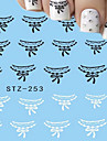 1pcs Nail Art Water Transfer Decals Sexy Lace DIY Beautiful Manicure Tips Nail Art Design Accessories Tips STZ-253