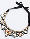 MPL European and American fashion acrylic geometric full diamond necklace Dickie