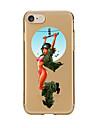 Для Прозрачный С узором Кейс для Задняя крышка Кейс для Соблазнительная девушка Мягкий TPU для AppleiPhone 7 Plus iPhone 7 iPhone 6s Plus
