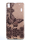 For Lenovo A6000 K5 Double IMD Case Back Cover Case Flowers And Butterflies Pattern Soft TPU A7000