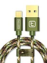 torras® USB 2.0 Micro USB 2.0 Braided Cable For Samsung Huawei Sony Nokia HTC Motorola LG Lenovo Xiaomi 300 cm Nylon Aluminum TPE