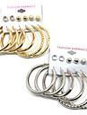 Mulheres Brincos Curtos Brincos em Argola Zirconia cubica Multi-maneiras Wear bijuterias Liga Forma Redonda Joias Para Casamento Festa