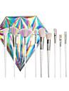 10Conjuntos de pincel Pincel para Blush Pincel para Sombra Pincel para Corretivo Escova Ventoinha Pincel para Po Outro Pincel pincel para