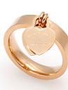 Anneaux Coeur Acier au titane Forme de Coeur Or Argent Rouge Rose Bijoux Pour Mariage Soiree Occasion speciale Quotidien Decontracte 1pc