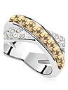 Кольца для пар Бижутерия Базовый дизайн По заказу покупателя Euramerican Драгоценный камень БижутерияБелый Пурпурный Зеленый Синий Разные
