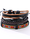 The New Vintage Cowhide Ancient Hand Woven Bracelet Cortical Layers Hand Rope Men\'s Bracelet Adjustable Size038