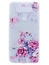 For LG G6 X Power Peony Flower Pattern Soft TPU Material Phone Case for K10 K8 K7 V20 Nexus 5X