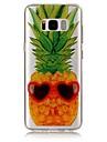 Para IMD Transparente Estampada Capinha Capa Traseira Capinha Fruta Macia TPU para Samsung S8 S8 Plus S7 edge S7 S6 edge S6 S5