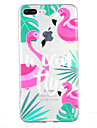 For Transparent Pattern Case Back Cover Case Flamingo Soft TPU for Apple iPhone 7 Plus  7  6s Plus  6 Plus 6s 6