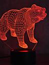Рождественский медведь черепах прикосновение затемнения 3d привело ночь свет 7colorful украшения атмосферу лампа новизны освещения