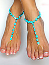 Shixin® Emerald Anklet Daily/Casual 1pc Christmas Gifts