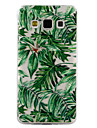 For Samsung Galaxy A3 A5 (2017) Case Cover Green Leaves Pattern Drop Glue Varnish High Quality TPU Material Phone Case A3 A5