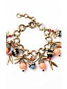 Women\'s Charm Bracelet Jewelry Friendship Luxury Alloy Leaf Jewelry For Party Birthday Valentine