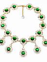 Жен. Заявление ожерелья Круглой формы Уникальный дизайн Светло-Зеленый Бижутерия Для Повседневные 1шт