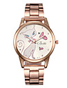 여성의 패션 다이아몬드 흰색 고양이 거울 석영 아날로그 스틸 벨트 시계