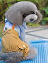 Собаки Комбинезоны Одежда для собак Зима Весна/осень Английский Праздник Мода Розовый Светло-синий