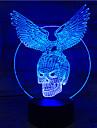 1pc touch 7-цветный скелет орел лампа 3d свет цвет зрение стерео красочный градиент акриловая лампа ночник видение