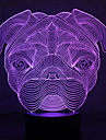 Christmas Bulldog Turtles Touch Dimming 3D LED Night Light 7Colorful Decoration Atmosphere Lamp Novelty Lighting Christmas Light