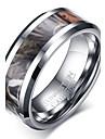 Кольцо Базовый дизайн По заказу покупателя Euramerican Простой стиль Мода Вольфрамовая сталь Круглый Круглой формы Геометрической формы