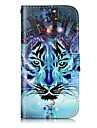 For Apple iPhone 7 7 Plus 6S 6 Plus SE 5S 5 Case Cover Wolf Pattern Shine Relief PU Material Card Stent Wallet Phone Case