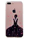 Para o iphone 7 mais 7 telefone caso sexy menina padrao soft tpu material telefone caso 6s mais 6s 6 se 5s 5
